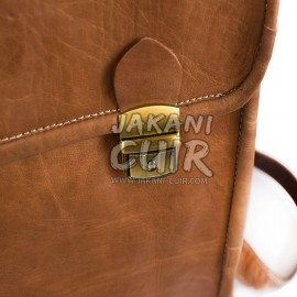 Moroccan natural leather backpack