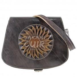 Moroccan shoulder leather bag
