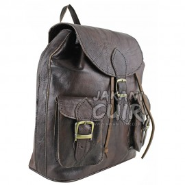 Vintage Moroccan leather backpack Ref:M17