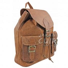 Vintage Moroccan leather backpack Ref:M17