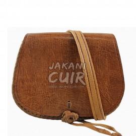 Shoulder leather bag