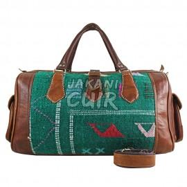sac de voyage en cuir marocain