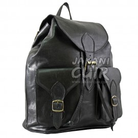 Moroccan Black Leather Backpack Ref:M16C