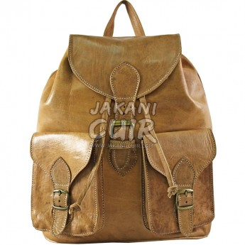 Vintage Moroccan leather backpack Ref:M16A