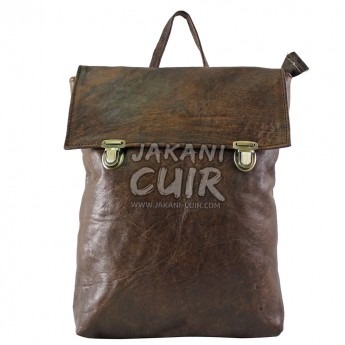 Leather Backpack Made In Morocco Ref:S59