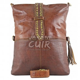 moroccan leather bag for women