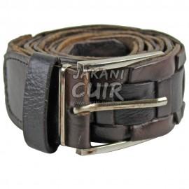 Brown cowhide leather belt Ref:CKB
