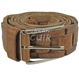 Moroccan belt in black cowhide Ref:CCTB