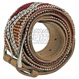 Moroccan Handmade Leather Kilim Belt Ref:CZA