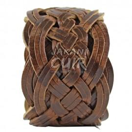 Ceinture naturel en cuir tressé Réf:CT2A