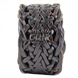 Ceinture naturel en cuir tressé Réf:CTLA