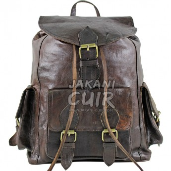 Moroccan Backpack In Natural Leather Ref:S52B
