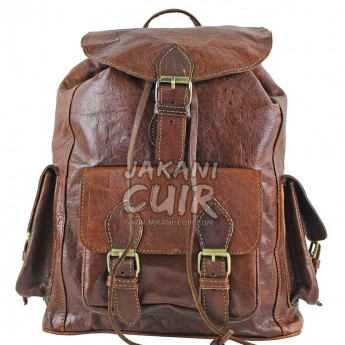 Moroccan Backpack In Natural Leather Ref:S52A