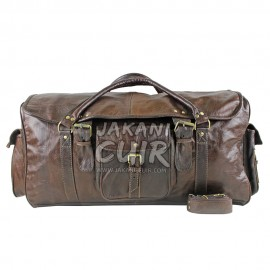 Moroccan Leather Travel Bag Brown Ref:VD2