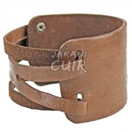 Bracelet En Cuir Marocain artisanal Réf:BR8B
