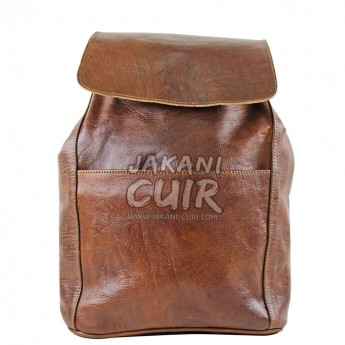 Moroccan Brown Leather Backpack Ref:S41