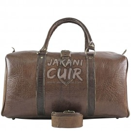 Moroccan Leather Travel Bag Réf:R6B
