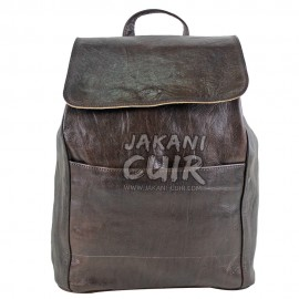 Moroccan Brown Leather Backpack Ref:S41B
