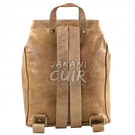 Moroccan Brown Leather Backpack Ref:S41A