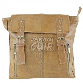 Moroccan Handmade Leather Backpack Ref:S46A