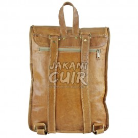 Moroccan Natural Leather Backpack Ref:S65A