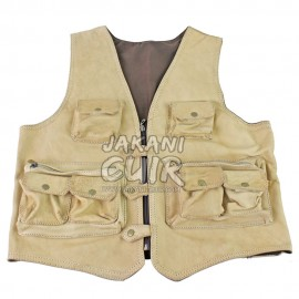 Handmade Moroccan Leather Vest Ref:GA
