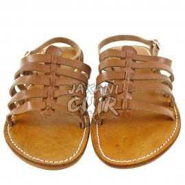Moroccan Silver Leather Sandal Ref:S1CA