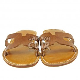 Moroccan Sandals stitched with leather Ref:S1FM