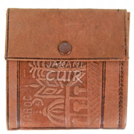 Moroccan Wallet in Printed Leather Réf:PF9