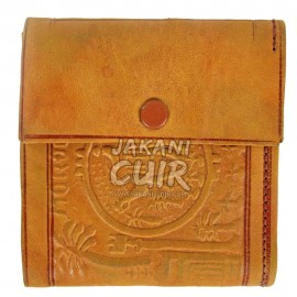 Moroccan Wallet in Printed Leather Réf:PF9M