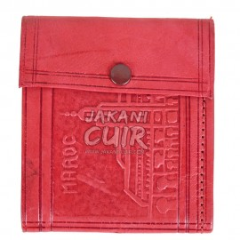 Moroccan Wallet in Printed Leather Réf:PF9R