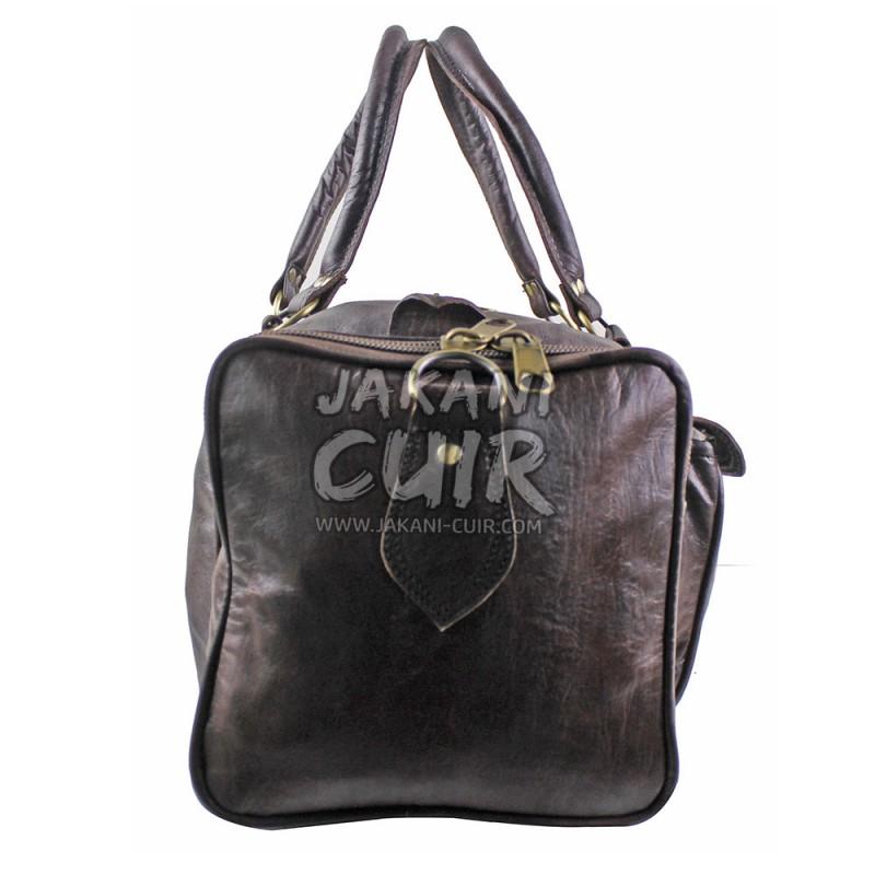 sac de voyage en cuir sac de voyage en cuir original sac week end en cuir marocain. Black Bedroom Furniture Sets. Home Design Ideas
