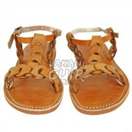 Sandale En Cuir Marocain Artisanal Réf:S1HM