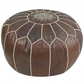 Pouffe Cuir Marocain