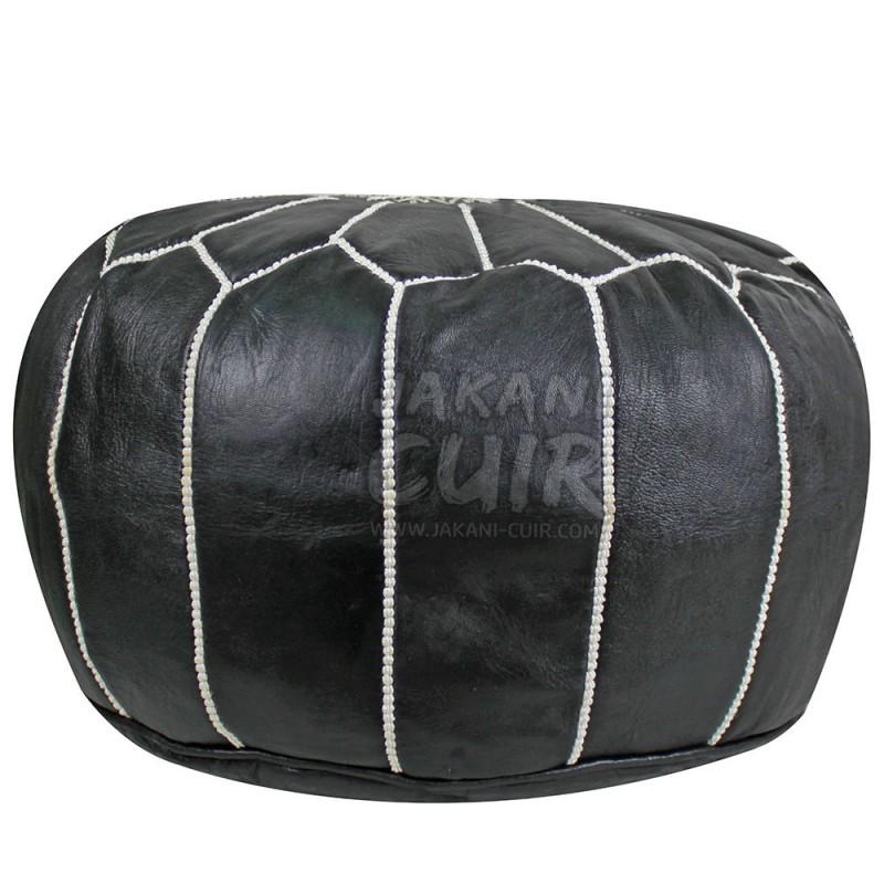 pouf marocain en cuir pouf artisanal pouf traditionel. Black Bedroom Furniture Sets. Home Design Ideas