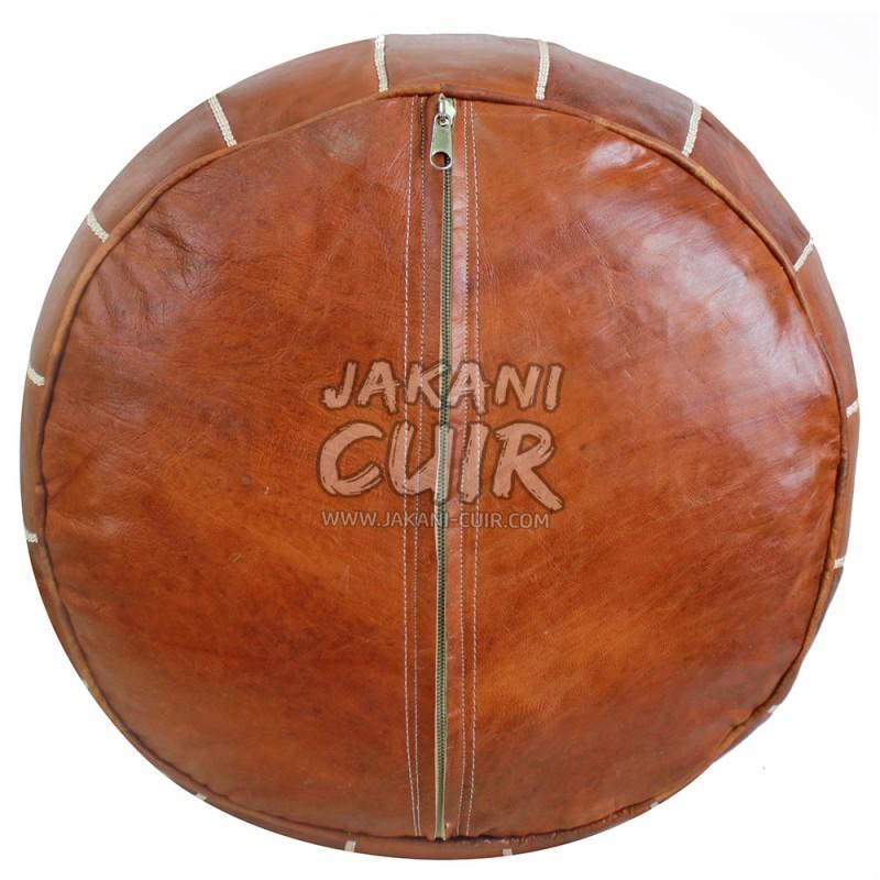 pouf marocain pouf fait en cuir naturel sac cuir maroc sac main en cuir moroccan leather pouf. Black Bedroom Furniture Sets. Home Design Ideas