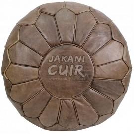 Pouf marocain cuir