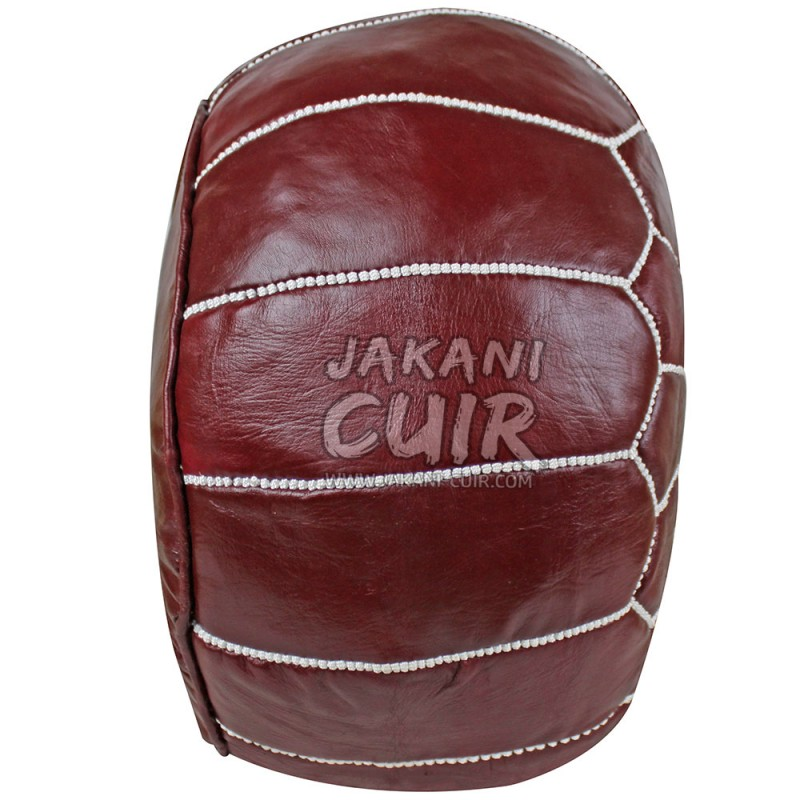 pouf en cuir ottoman pouf cuir marocain pouffe en cuir marocain moderne. Black Bedroom Furniture Sets. Home Design Ideas
