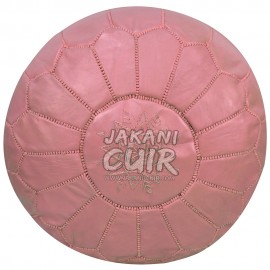 Moroccan Leather Pouf Dark Pink Ref:PS26-26
