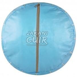 Pouf Marocain Couleur Bleu Ciel Réf:PS38-4