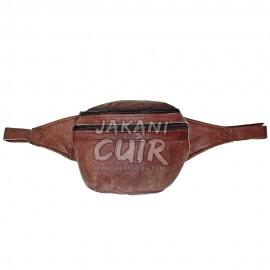 pochette banane en cuir marocain Réf:P27B