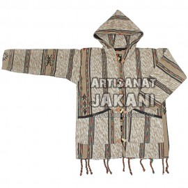 Capuche marocain en laine bio Réf:CP-B