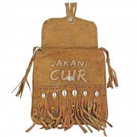 Shoulder leather bag, practical