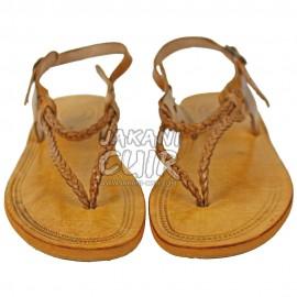 Sandale En Cuir Marocain Artisanal Réf:S1HD