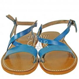 Sandale En Cuir Marocain Artisanal Réf:S1L