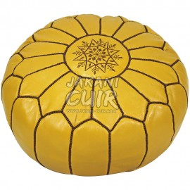 Handmade Moroccan leather pouf Ref:PS18-3