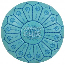 Moroccan Pouf Bleue Turquois Ref:PBS12-12