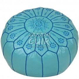 Moroccan Pouf Bleue Turquois Ref:PBS12-12