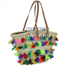 Tassel basket with long handle Ref:PN43