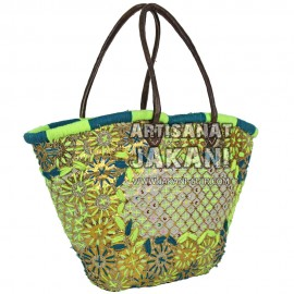 Moroccan wicker basketRef:PN44